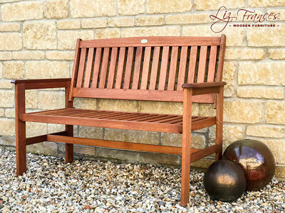 Elegant 2 Seater Garden Bench Outdoor Wooden Patio Furniture Oakham Hardwood