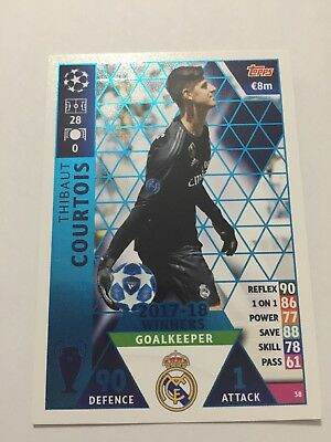 """N.38. """"Courtois"""" Real Madrid  MATCH ATTAX CHAMPIONS LEAGUE 2018-2019"""
