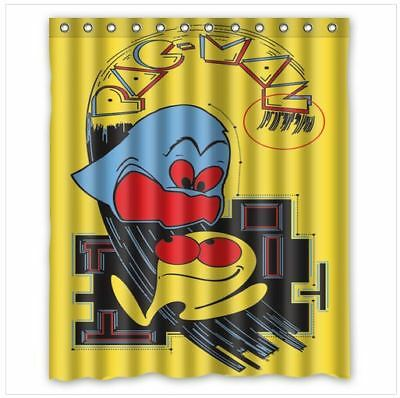 New Custom Bathroom Decor PAC MAN GAME Shower Curtain 60x72