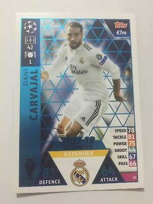 """N.39. """"Carvajal"""" Real Madrid  MATCH ATTAX CHAMPIONS LEAGUE 2018-2019"""