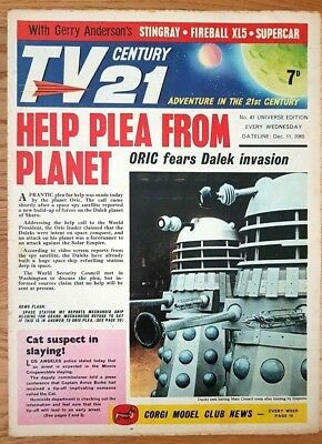 TV CENTURY 21 # 47 December 11th 1965 Stingray/Daleks/Fireball xl5/Lady Penelope