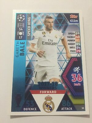 """N.50 """" Bale"""" Real Madrid  MATCH ATTAX CHAMPIONS LEAGUE 2018-2019"""