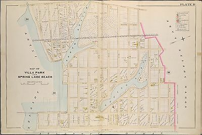 1889 Villa Park Spring Lake Beach Monmouth County New Jersey Atlas Map