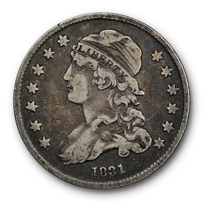 1831 Capped Bust Quarter Very Fine VF Original US Coin Small Size 25c #6871