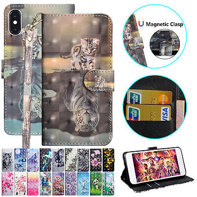 For Apple iPhone 7 Plus Case Luxury Leather Magnetic Flip Stand Card Slot Cover
