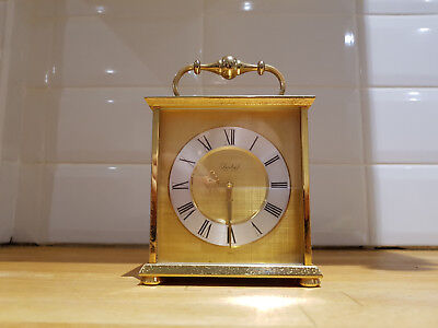 Vintage Imhof Mechanical Swiss Made Brass Carriage Clock 15 Jewels
