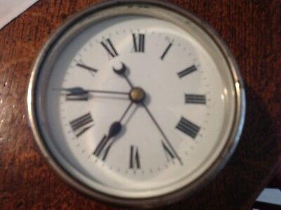 antique center seconds drum clock. G P O