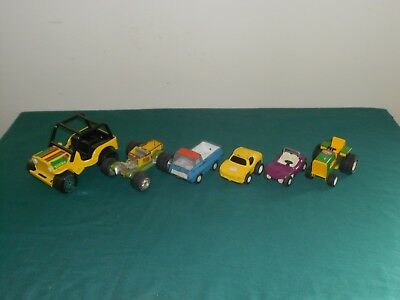 Nice Lot Of (6) Small Tonka Vehicles - Jeep - Pick Up - Dune Buggy - Mower