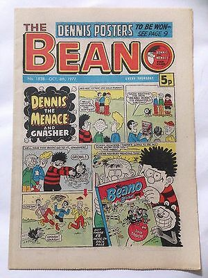 DC Thompson THE BEANO Comic. Issue 1838 October 8th 1977 **Free UK Postage**