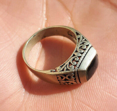ancient antique roman legionary ring silver color artifact rare type