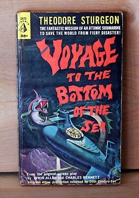 1961 Pyramid 1st print VOYAGE TO THE BOTTOM OF THE SEA by Theodore Sturgeon VG