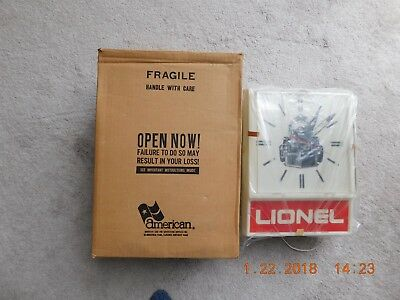 RARE LIONEL TRAINS # 1076 DEALER SERVICE STATION CLOCK from 1976 BRAND NEW MIB