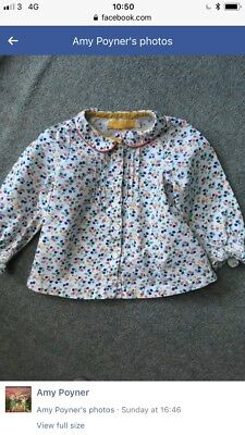 Little Bird By Jools Oliver Girls Ditsy Floral Peter Pan Blouse Top 12-18 Months