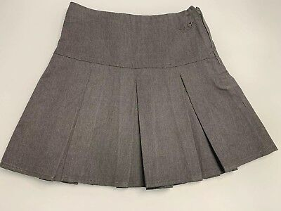 Girls Pleated School Skirt, NEXT, Grey, Aged 7 Years