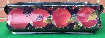 Large Antique Rare Moorcroft Signed Pomegranate Trough Planter Dish Bowl A/F