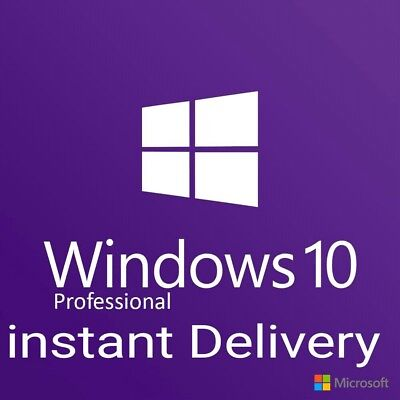 Windows 10 Pro Professional Key 32/64 Bit Activation license instant