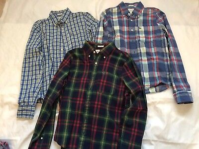 Lot Of Mens Abercrombie Shirts Size Small Great Plaids! Nice Shape!