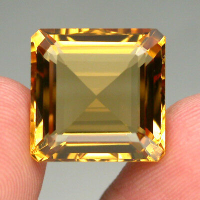 Citrine Clean Precious! 12.92ct. 100%natural Unheated Top Yellow Golden Brazil