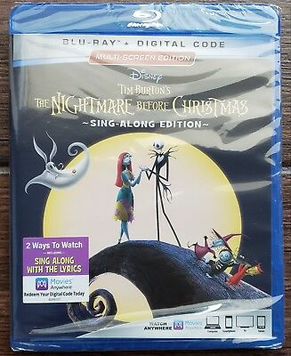 Nightmare Before Christmas Sing-Along Blu-ray ✔☆MINT ✔☆NO DIGITAL✔☆FREE SHIPPING