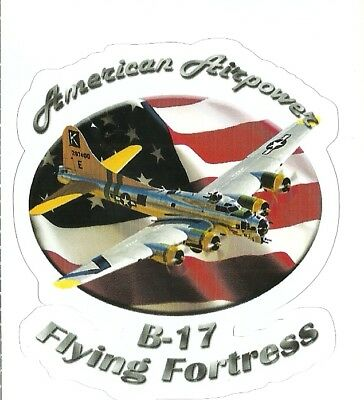 B-17 FLYING FORTRESS  AIRPLANE  Sticker Decal