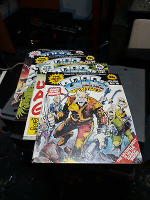 The Best of 2000AD featuring Judge Dredd Monthly x 4 (1986/7) FREE POSTAGE
