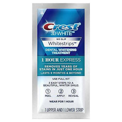 New Crest 3D White Whitestrips 1 Hour Express Professional Teeth Whitening Strip