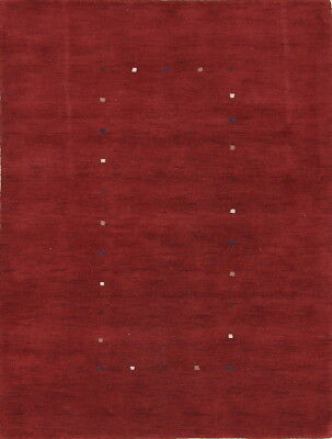 Kid's Room Abstract Contemporary Gabbeh Modern Red Oriental Area Rug Wool 5x7