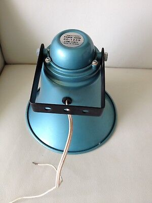 "Vintage Blue Anodised Realistic Power Horn Loudspeaker 5"" All-weather 40-1239"