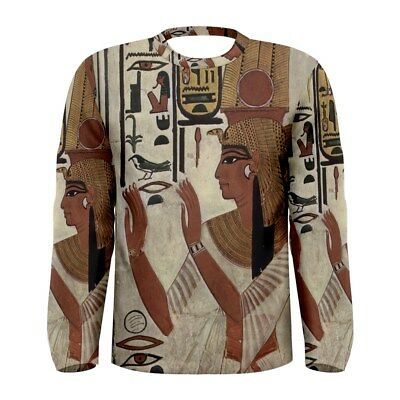 Nefertari Ancient Egyptian Queen Sublimated Men's Long Sleeve T-shirt Size S-3XL