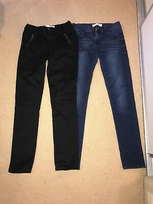 2x Just Jean Girls Size 16 Jeans Black And Blue Denim