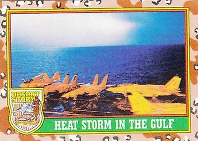 1991 Desert Storm Trading Card Series 1  84 Heat Storm in the Gulf