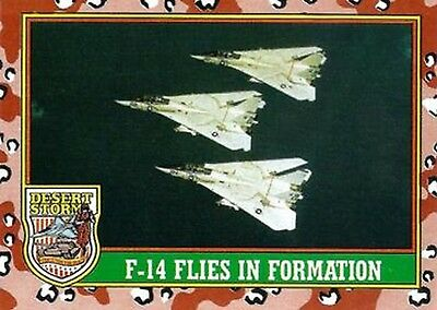 1991 Desert Storm Trading Card Series 1  22 F-14 Flies in Formation