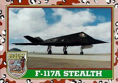1991 Desert Storm Trading Card Series 1  21 F-117A Stealth