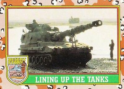 1991 Desert Storm Trading Card Series 1  41 Lining Up the Tanks