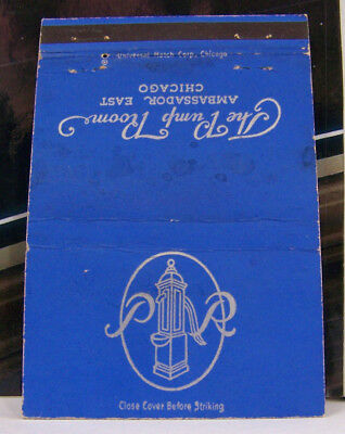 Rare Vintage Matchbook Cover T2 Chicago Illinois The Pump Room Sarah Siddons