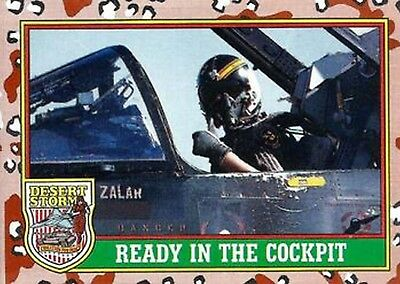 1991 Desert Storm Trading Card Series 1  75 Ready in the Cockpit