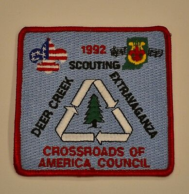 Vintage Boy Scouts Patch Bsa 1992 Crossroads Of America Council Indiana Deer