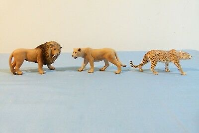 Three Schleich Big Cats New without Tags