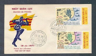 Vietnam 1971 Army Day Soldiers Navy Ships cachet unaddressed first day cover FDC