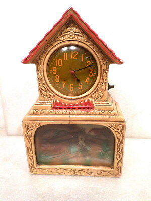 Unusual 1950's Electric Novelty Clock for Parts or Restoration