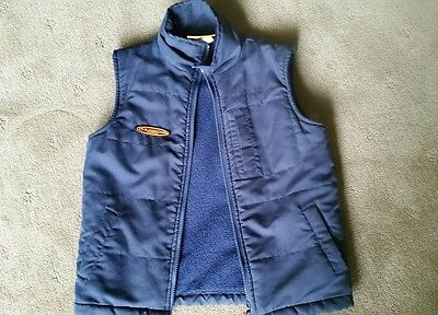 V8 Supercars Warm Padded Vest - Navy Blue - Size 8 - Vg - Excellent Condition