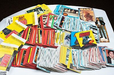 Huge Lot of 658 Vintage 1977 - 1983 Topps Star Wars Trading Cards