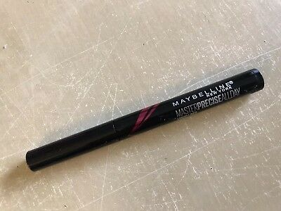 New! Maybelline Master Precise All Day Liquid Liner in Black - Travel Size 0.02