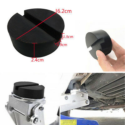 1× Slotted Rail Floor Jack Disk Rubber Pad Adapter for Pinch Weld Side JACKPAD
