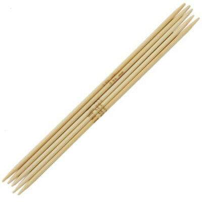 Carbonized Bamboo Double Pointed Needles DPN Set Of 5 Various Sizes 75PCS