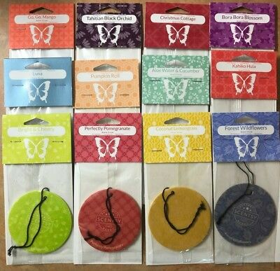 Scentsy Scent Circle Air Freshener Retired & Current Fragrances for Auto & Home