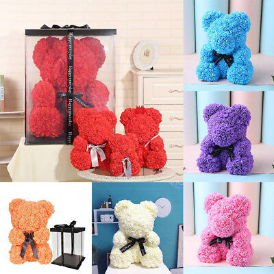 23cm Rose Flower Teddy Bear Valentine's Day Birthday Wedding Gift for Girlfriend