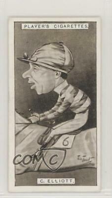 1925 Player's Racing Caricatures Tobacco Base 14 Charles Elliott MiscSports Card