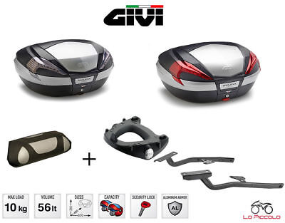 GIVI COFFRE VALISE V56 N NT + SUPPORTS 8700FZ BENELLI Trois 1130 K 2012 2013