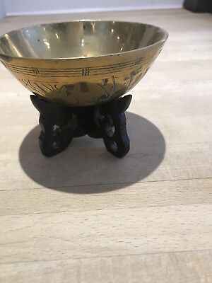 Brass China Bowl With Stand